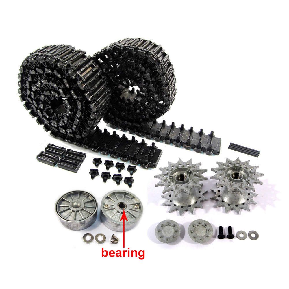 MATO 1/16 Sherman Metal Tracks T49 sprockets / driving wheels idler wheels with bearings for 1:16 Heng Long 3898-1 Sherman tank mato sherman tracks 1 16 1 16 t74 metal tracks