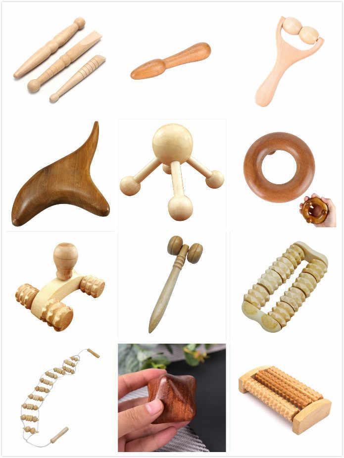 12 стилей дерево тело Рефлексология ног Акупунктура шиацу тайский ролик-Массажер терапия меридианы лом лимфодренаж