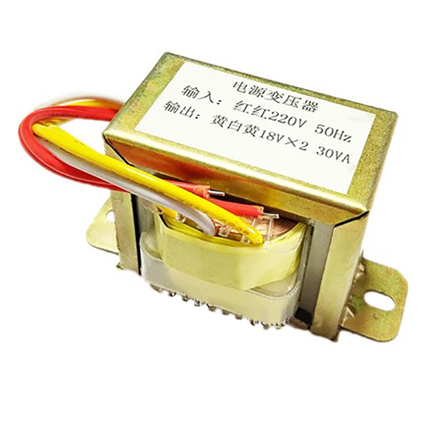 EI57 30W 220V-18V transformer input 220v 50Hz output <font><b>30VA</b></font> double 18V power transformers image