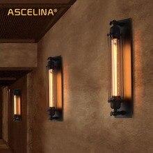 Промышленный винтажный настенный светильник бра, железные Лофт лампы для спальни, коридора, бара, прохода, склада, ресторана, паба, кафе, настенный светильник, бра