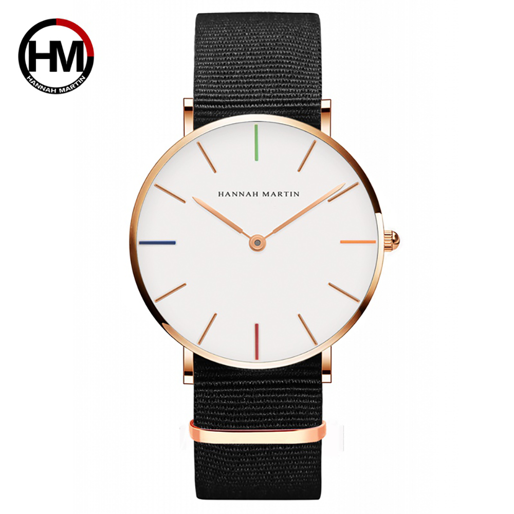 Girls Boys Watch Luxury Quartz Couple Watch Top Brand Gold Men Women Wristwatches Colorful Nylon Male Female Creative Watch