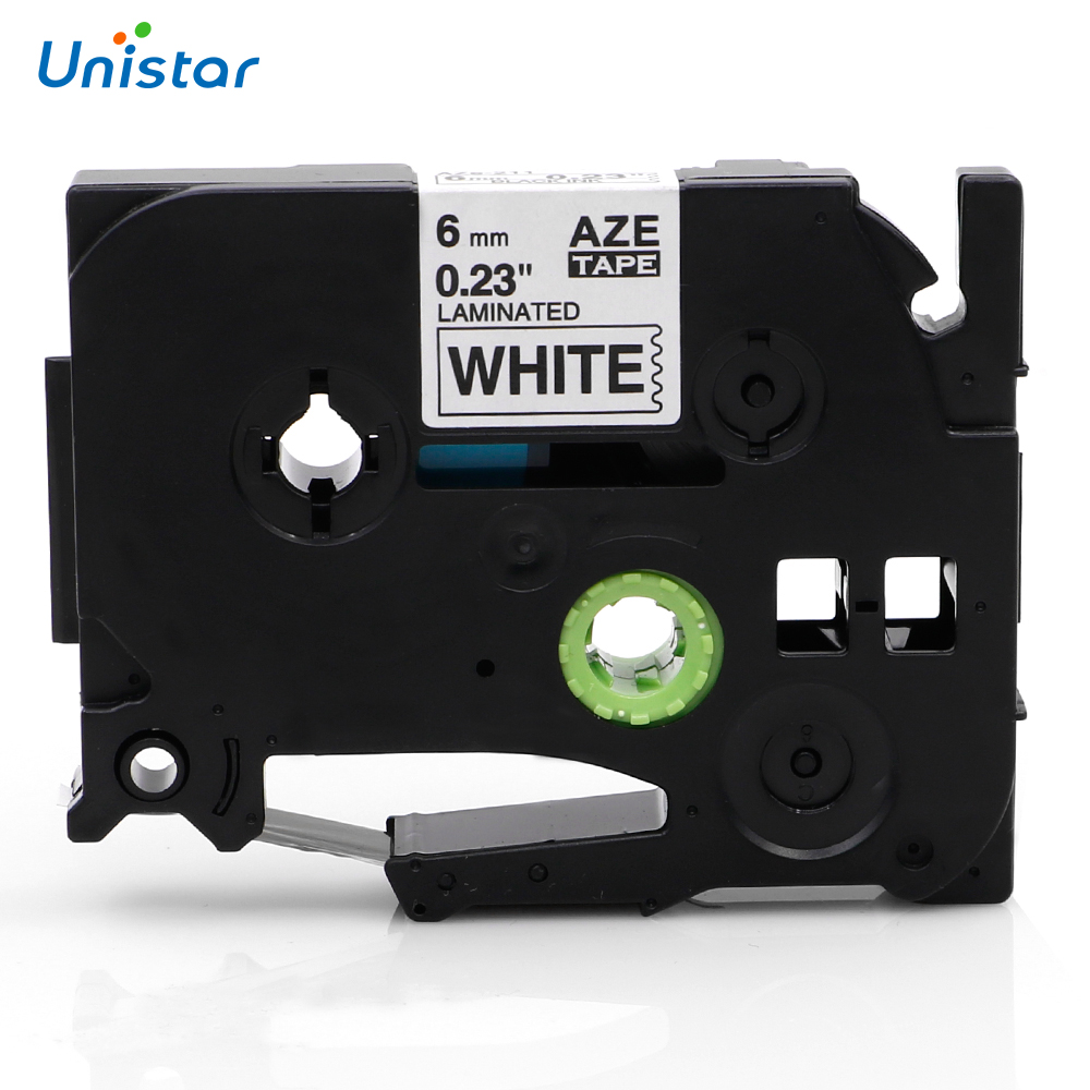 Unistar TZe-211 TZe-611 Laminated 6mmx8m Compatible Brother P-touch tze Tape White Yellow Mixed Color TZe-211 Label Maker