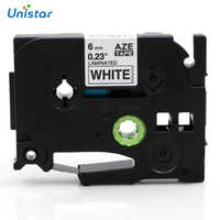 Unistar TZe-211 TZe-611 Laminated 6mmx8m Compatible for Brother P-touch Tape White Yellow Mixed Color TZe 211 tze211 Label Maker