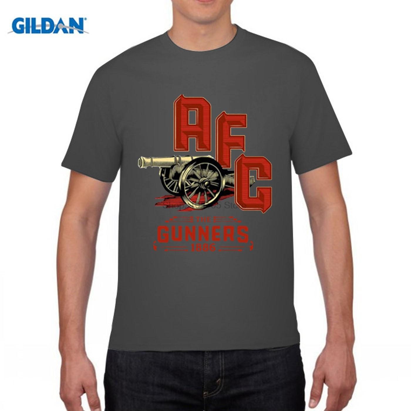 GILDAN funny men t shirt London Holloway Premier League Emirates Stadium ARS Mesut Ozil t-shirt jersey fan