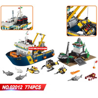 Hot city deep sea exploration vessel building block shark Fisherman Diver octopus figures submarine ship bricks 60095 toys