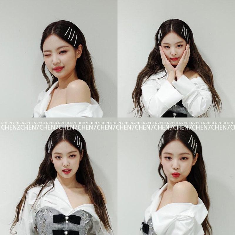 Kpop Blackpink JENNIE Same Korean Sweet Hair Clip Women Hair Accessories Hair Clip Girls Hair Fashion Cute Headwear Barrette