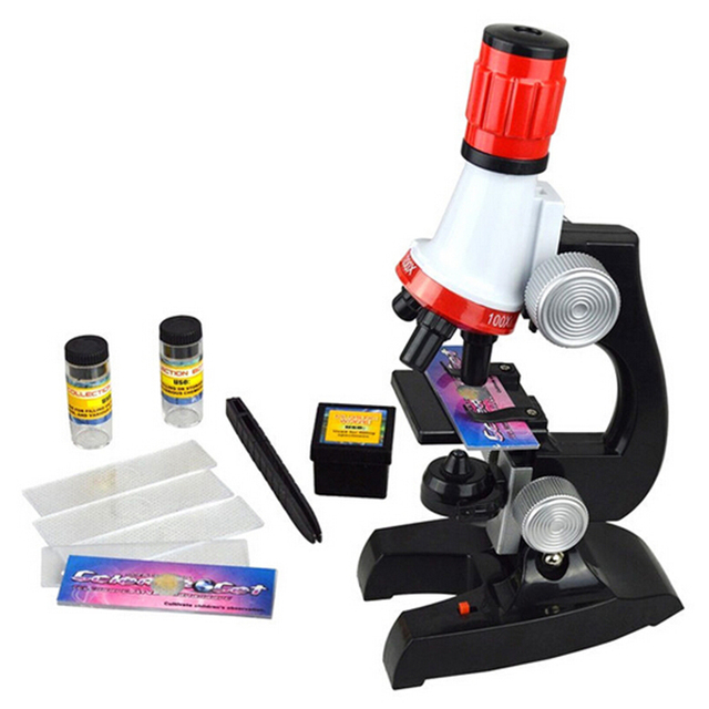 2016 Hot Birthday Gift Educational Illuminated LED Student Toy Children Microscope for Kids to Learn Science