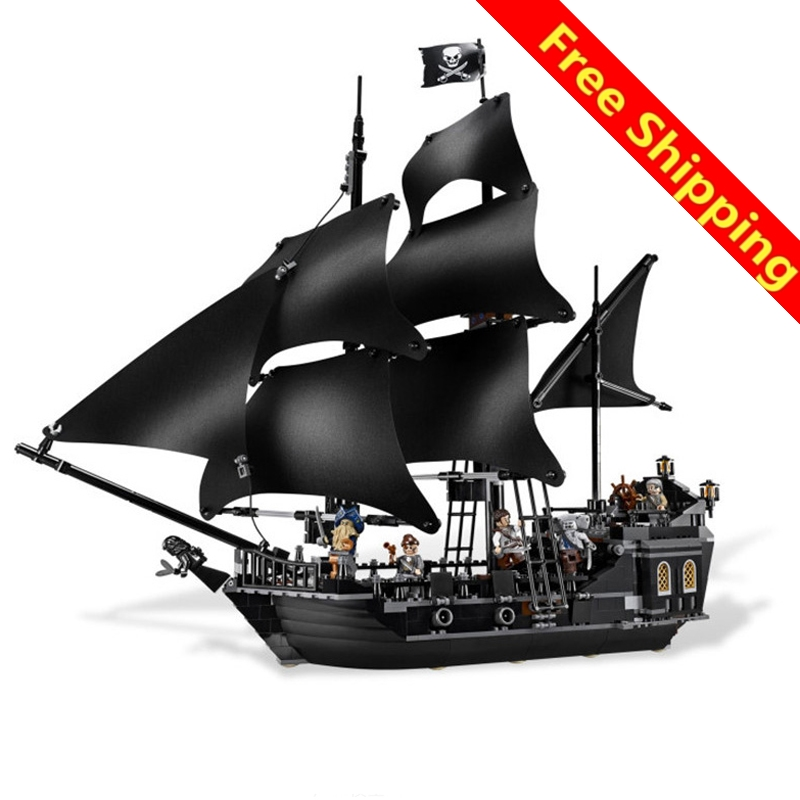 Lepin Pirates Of The Caribbean 804PCS The Black Pearl Ship Building Kit Blocks Bricks Toys Compatible 4184 Brinquedos kazi 1184pcs pirates of the caribbean black general black pearl ship model building blocks toys compatible with lepin