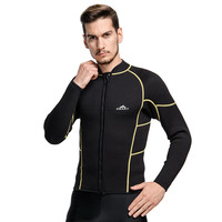 High Quality 3MM Neoprene Men T Shirt Man Plus Size Wetsuit T Shirts Surfing Diving Tops Warm Long Sleeve Swimming
