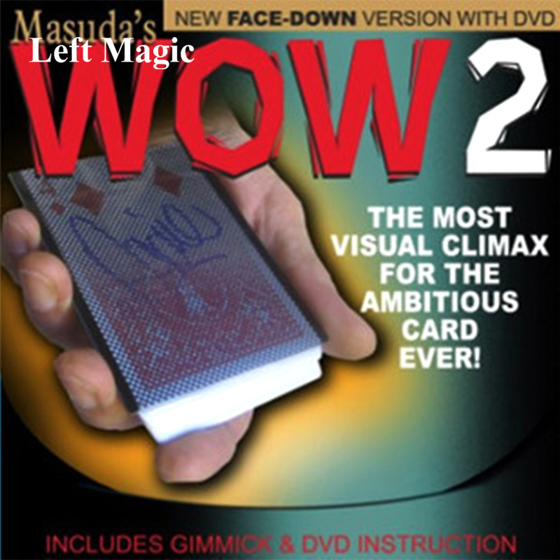 Wow 2.0 (Face Down Version ) Magic Trick Card Sleeve With Card Back Design Magic Props Change Gimmick Mentalism C2014
