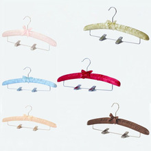 Hangerlink Multi Color Satin Padded Pants Hangers With Metal Clips (10 pieces/ Lot)