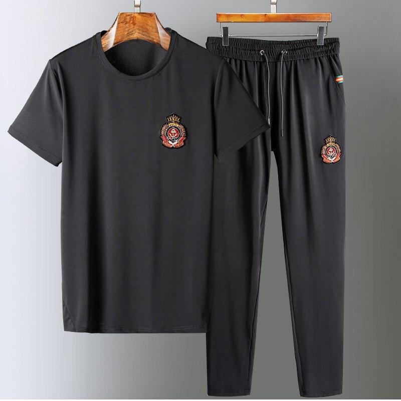 WD06267Fashion hommes ensembles 2019 piste de luxe célèbre marque conception européenne fête style vêtements pour hommes