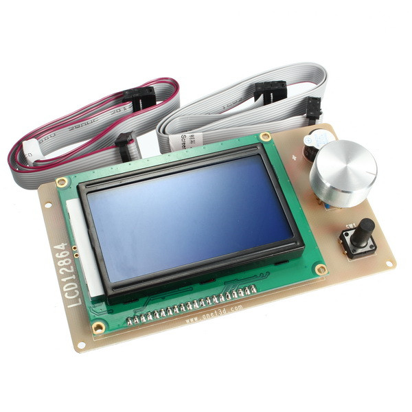 New Arrival 1PC 3D Printer LCD12864 LCD Module LCD 12864 Display Monitor Motherboard RAM ...