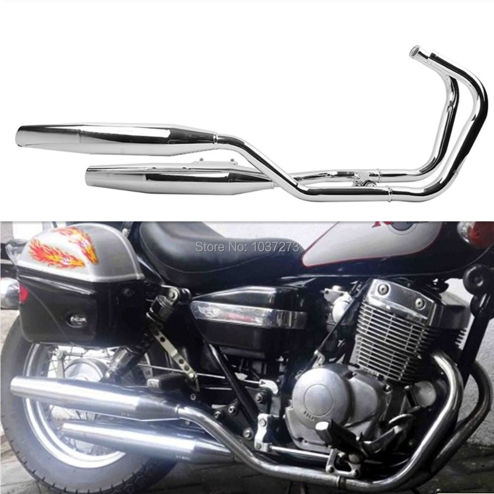 купить Chrome One side Exhaust Muffler for Honda Rebel 250 CA250 CMX250 1985-2014 96 06 по цене 17828.94 рублей