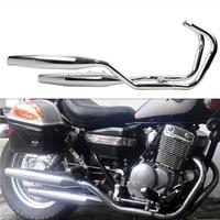 Chrome One side Exhaust Muffler for Honda Rebel 250 CA250 CMX250 1985 2014 96 06