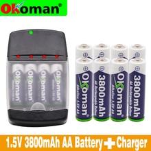 Новый AA 3800 mah 1,5 V Щелочная аккумуляторная батарея для Светодиодный свет аккумулятор для электронной игрушки и слот зарядное устройство для щелочных аккумуляторов