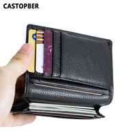 2015 High Quality 100 First Layer Of Cowhide Genuine Leather Card ID Holder Men Credit Card