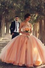Custom Made Strapless Ball Gown Wedding Dress With Pearls Arabic Dress Vintage Bride Dress vestido De noiva 2017