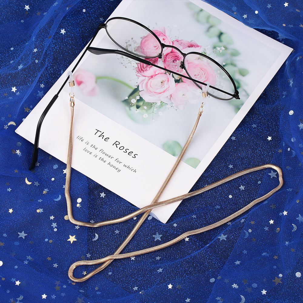 Glasses strap Eyeglass metal Chain Reading Glasses Cord Holder Neck Strap Rope Gift Fashion 2019 New sunglasses accessories sale(China)