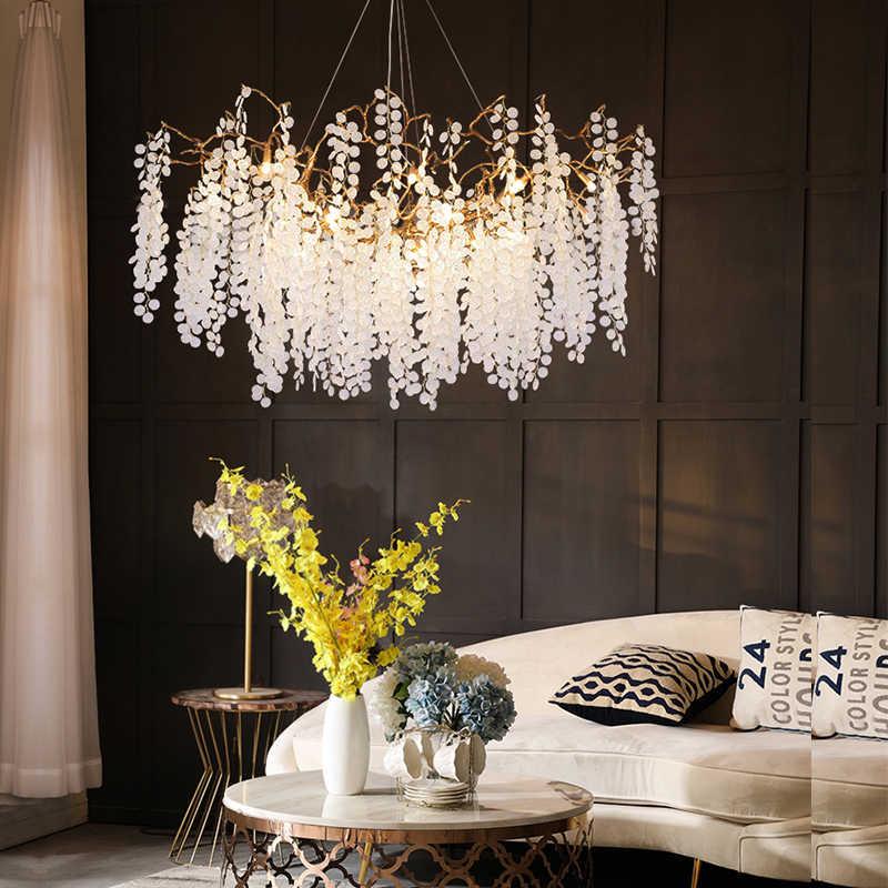 유리 hanglamp led 매달려 램프 패션 구리 북유럽 전등 거실 펜던트 조명 침실 lampara colgante