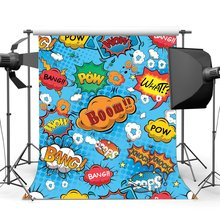 Boom Backdrop What Bang Knock Wow Pow Twinkle Stars Backdrops Cartoon Photography Background