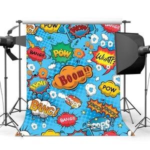 Image 1 - Boom toile de fond ce que Bang frapper Wow Pow scintillent étoiles toiles de fond dessin animé photographie fond