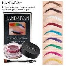 цены 1PC Eyebrow Tint Eyebrow Pomade Gel Enhancer Waterproof Eye Makeup Eye Brow Cream 12 Colors