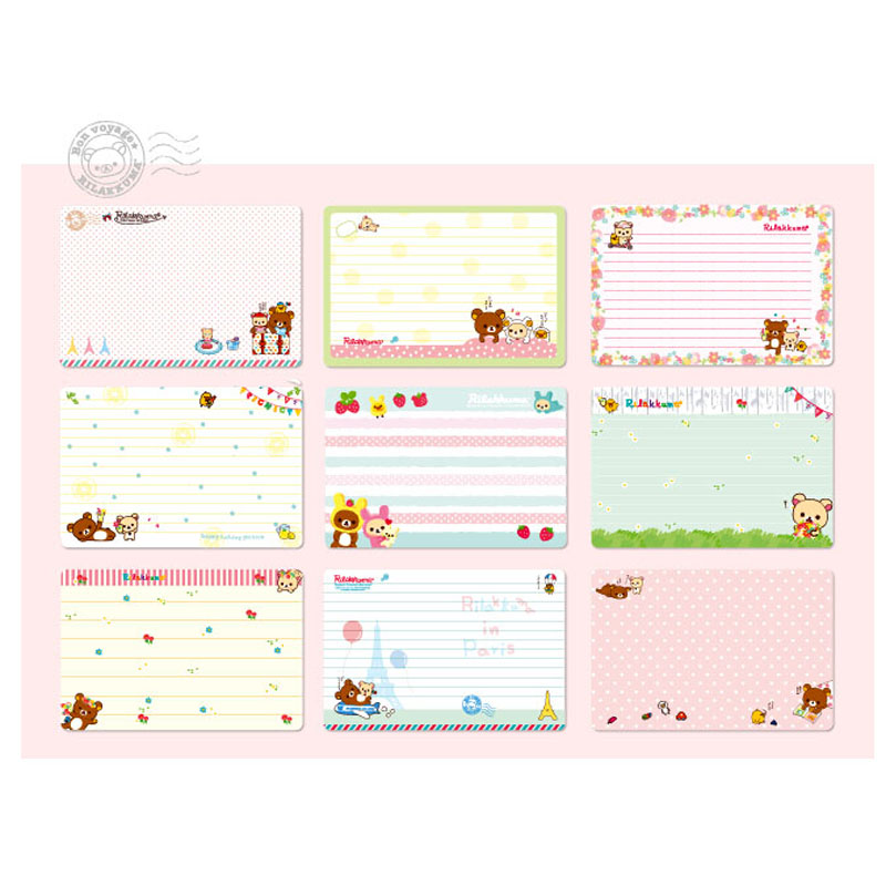 com buy w kawaii cute rilakkuma portable colorful com buy w51 kawaii cute rilakkuma portable colorful notebook writing paper drawing stationery planner birthday gift post it notepad from