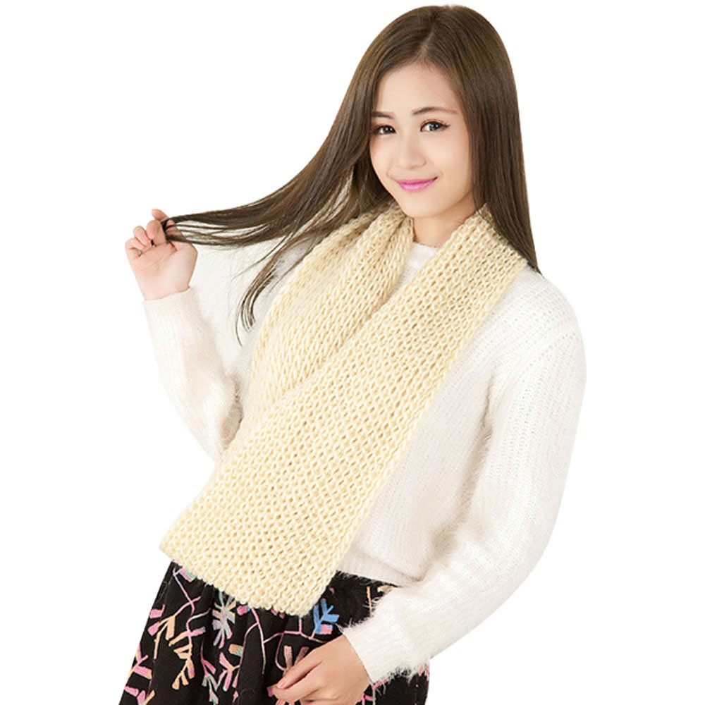 Wholesale Retail Winter Solid Color Wool Yarn Scarf Winter Knitted Collar Candy Color Muffler Scarf Lovers Scarf 10