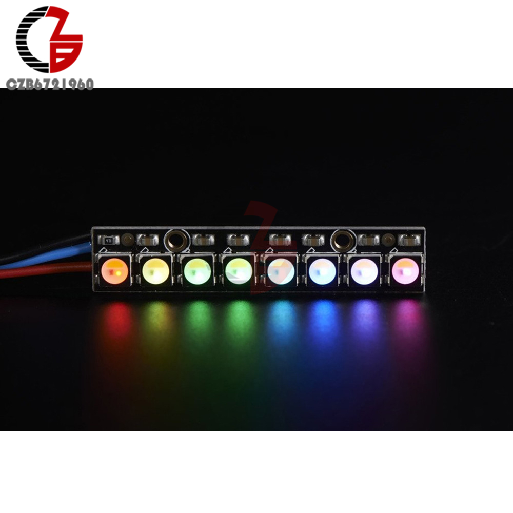 8 Bit SK6812 5050 Stick RGBW LED Natural 4500K with Integrated Drivers RGBW White 5pcs lot intersil isl8121irz isl8121qfn 3v to 20v two phase buck pwm controller with integrated 4a mosfet drivers