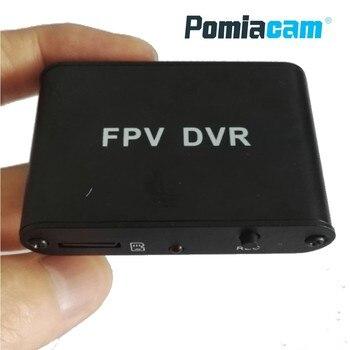 Original FPV DVR Micro D1M 1CH 1280x720 30f/s HD DVR FPV AV สนับสนุนเครื่องบันทึกวิดีโอ 32 กรัม TF card ทำงานร่วมกับ CCTV กล้องอะนาล็อก
