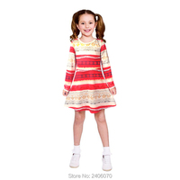 Autumn 2017 Girl Dresses Kid Clothing Cartoon Long Sleeve Girls Dress Halloween Cosplay Carnival Party Costume