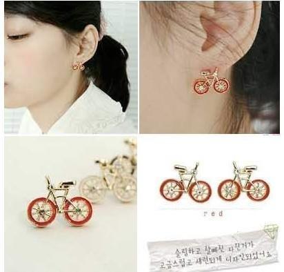 HOT!wholesale NEW bike fashion earrings/fashion jewelry/ladies' earrings+Free shipping