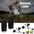 Hot 1 Par Da Motocicleta Fone De Ouvido Bluetooth Interfone 500 m Bluetooth Intercom Sem Fio Tempo Protegido Headset