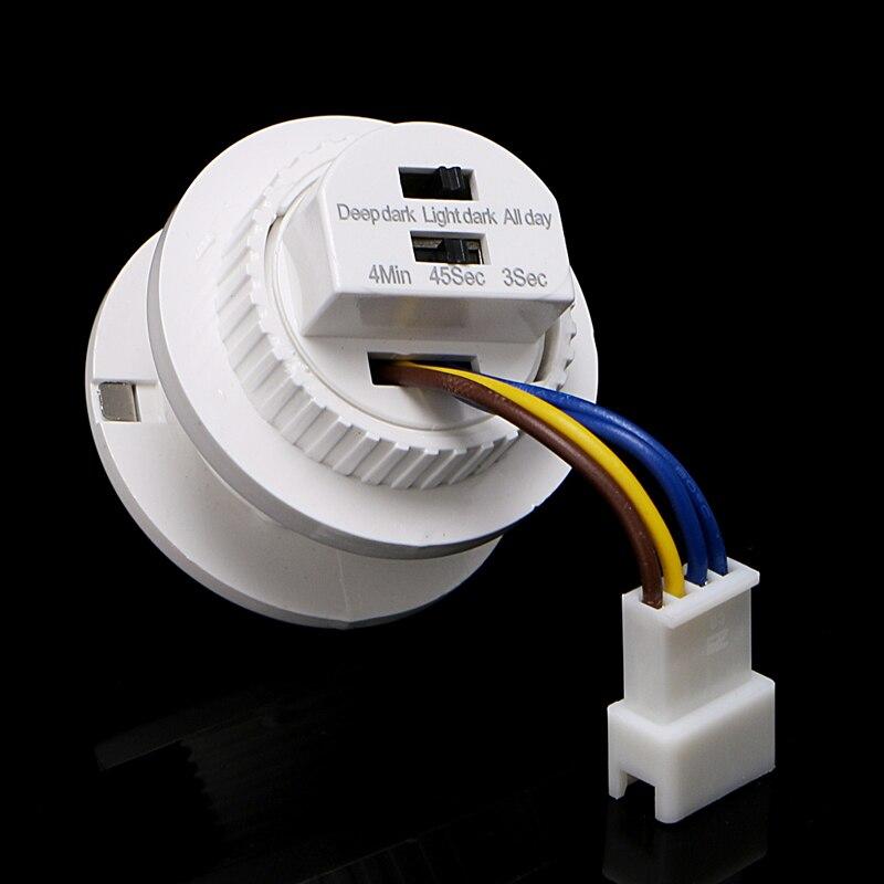 40мм светодиодный детектор PIR инфракрасный датчик движения выключатель с задержкой времени регулируемый