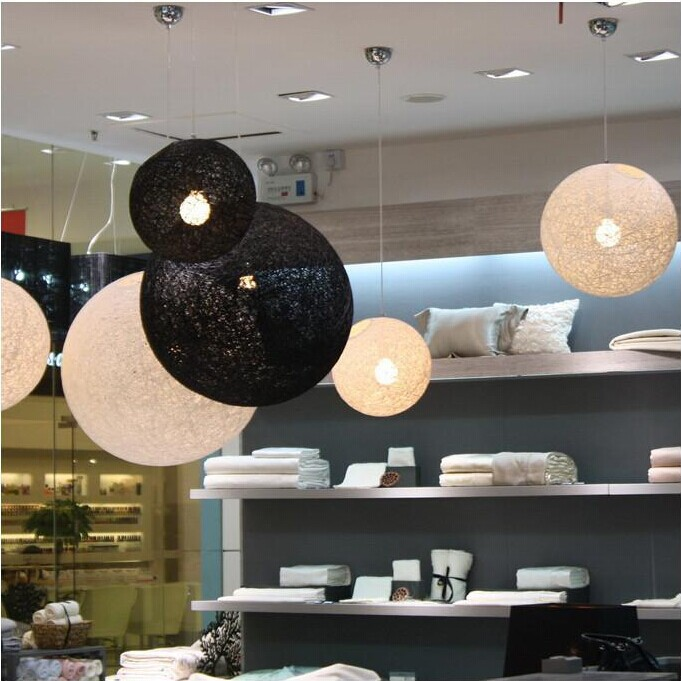 Led lamps Rural single head bamboo rattan Indoor ball pendant lamp Contracted restaurant droplight epidemiology of indoor particulate pollutants impact on rural areas