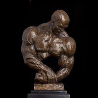 ATLIE BRONZES Nouveau Art Bronzes Antique Statue Abstract Muscle Man Sculpture Collections for Body Builder Gym Decoration
