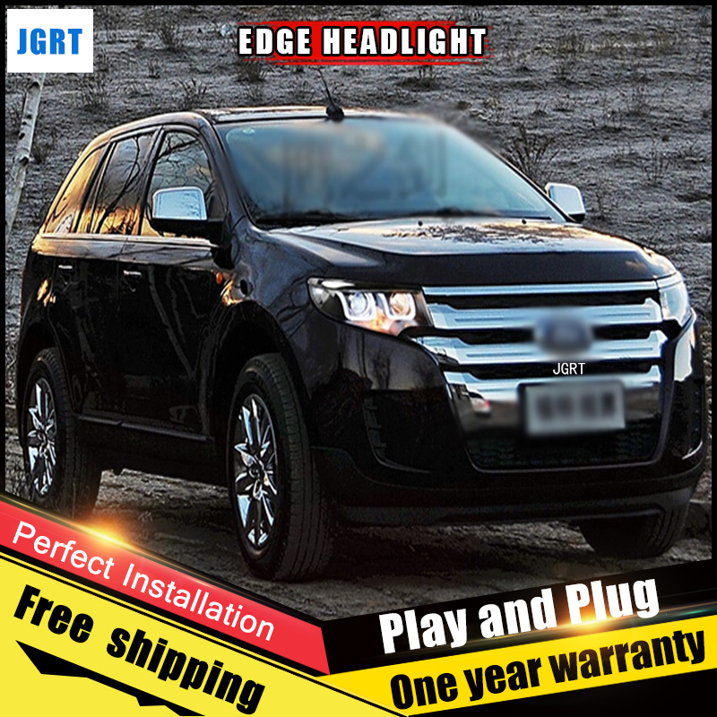 2PCS Car Style LED headlights for Ford Edge 2013-2014 for Edge head lamp LED DRL Lens Double Beam H7 HID Xenon bi xenon lens стоимость