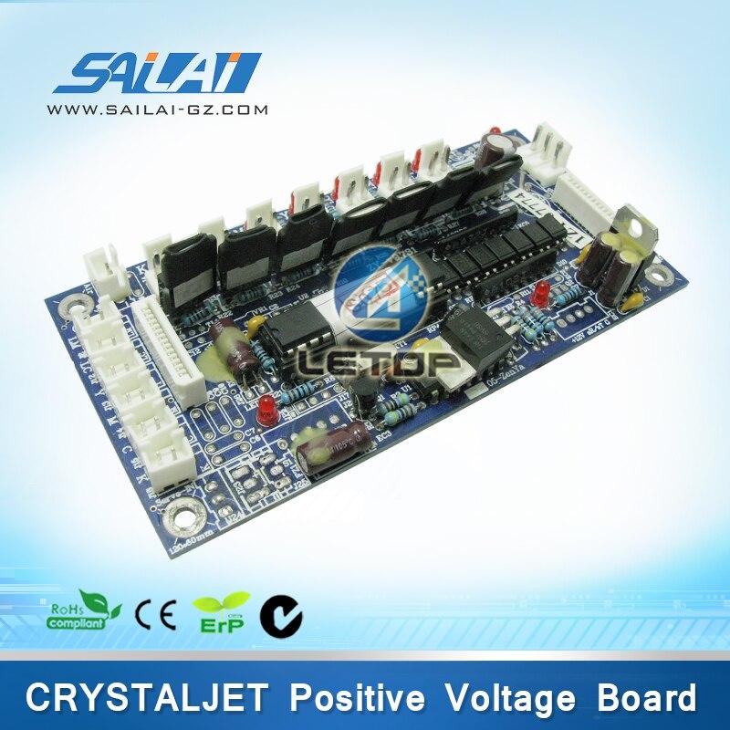 Brand new ! Positive Voltage pressure crystaljet board for crystaljet 4000 inkjet printer high quality printer date cable 16p for crystaljet