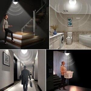 Image 5 - LED veilleuse PIR capteur ampoules mouvement du corps 220V 230V détecteur de mouvement LED lampe escaliers couloir éclairage 5W 7W 9W 12W 18W