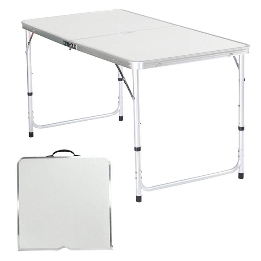 Indoor Outdoor Folding Portable Table Plastic Picnic Party Dining Camping Height-Adjustable Desk