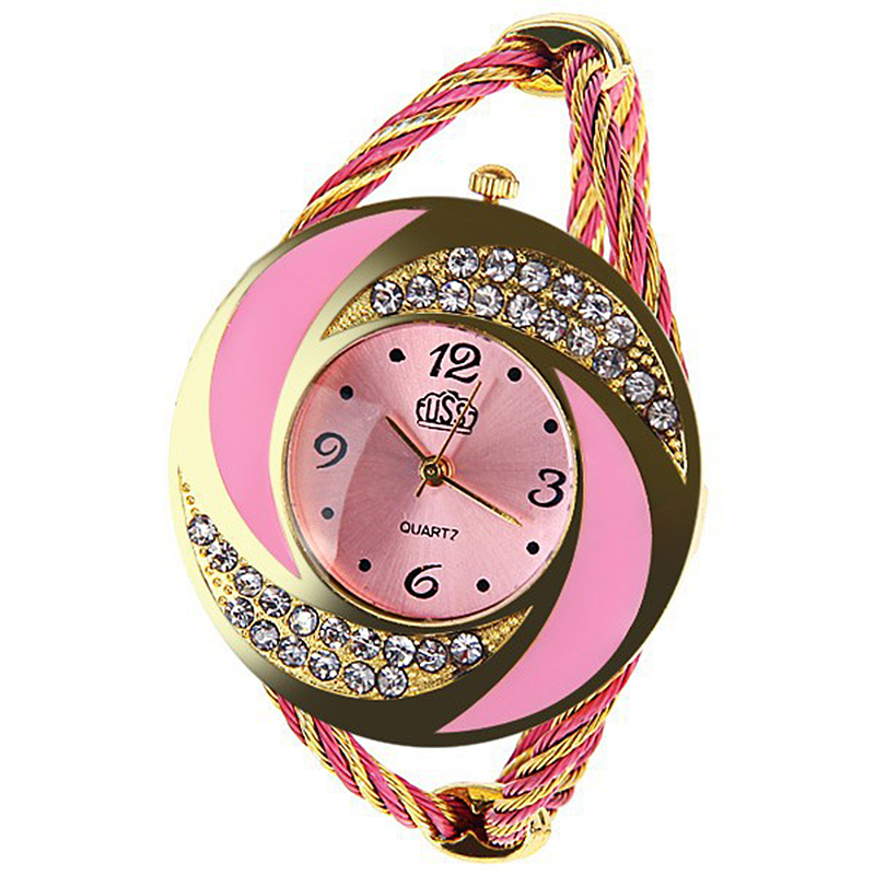 2017 CUSSI Luxury Brand CUSSI Rhinestone large wrist watch women ...