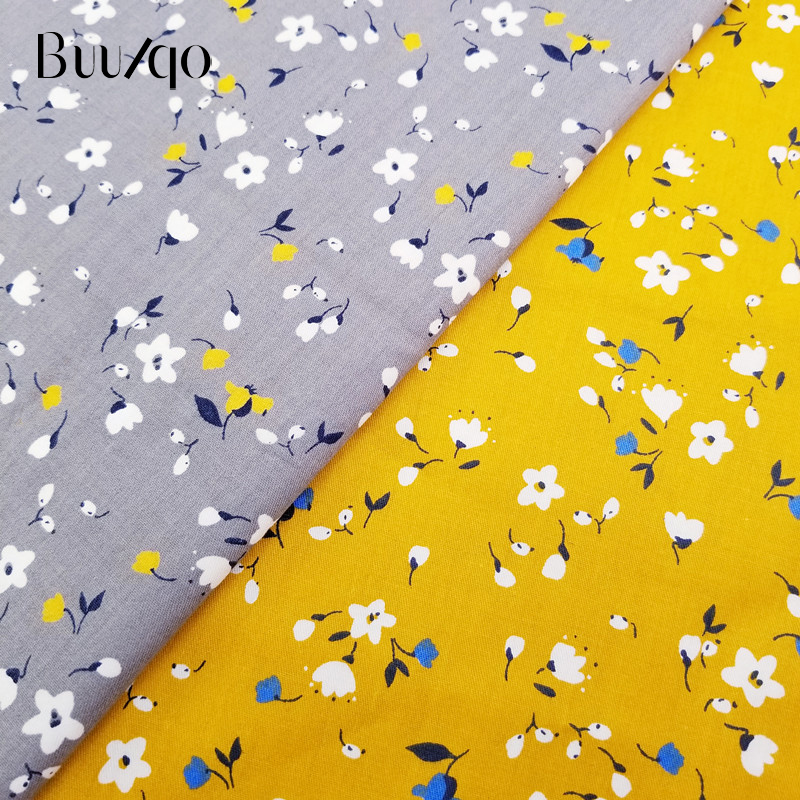 Buulqo Printed Floral Cotton Twill Fabric Kids Cotton Patchwork Cloth DIY Sewing Quilting Fat Quarters Material For Baby&Child