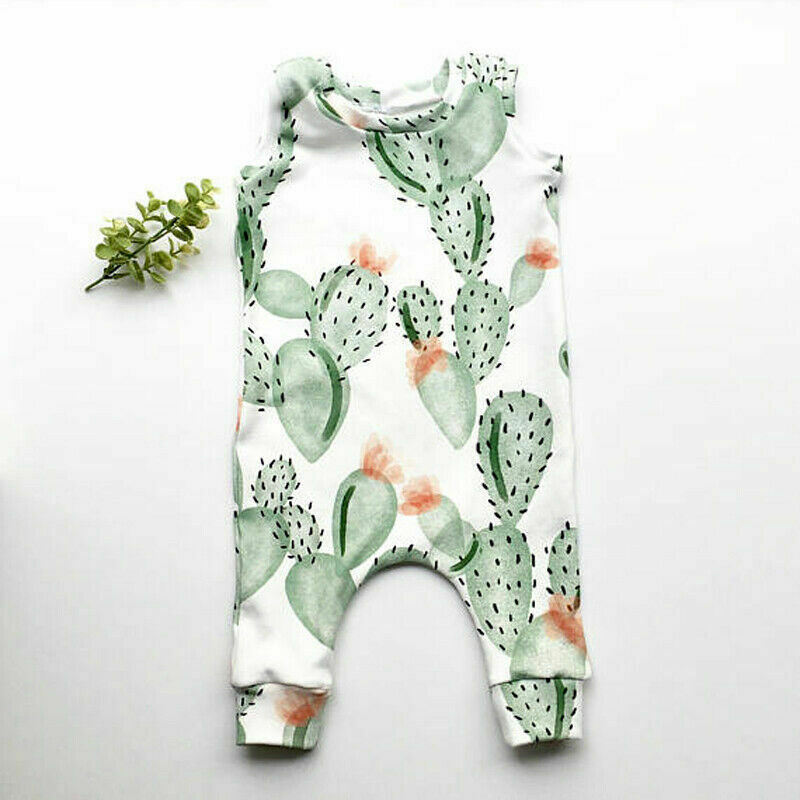 Summer Newborn Infant Baby   Romper   Cactus Toddler Baby Boy Girl Kids   Romper   Clothing Jumpsuit Clothes Outfit