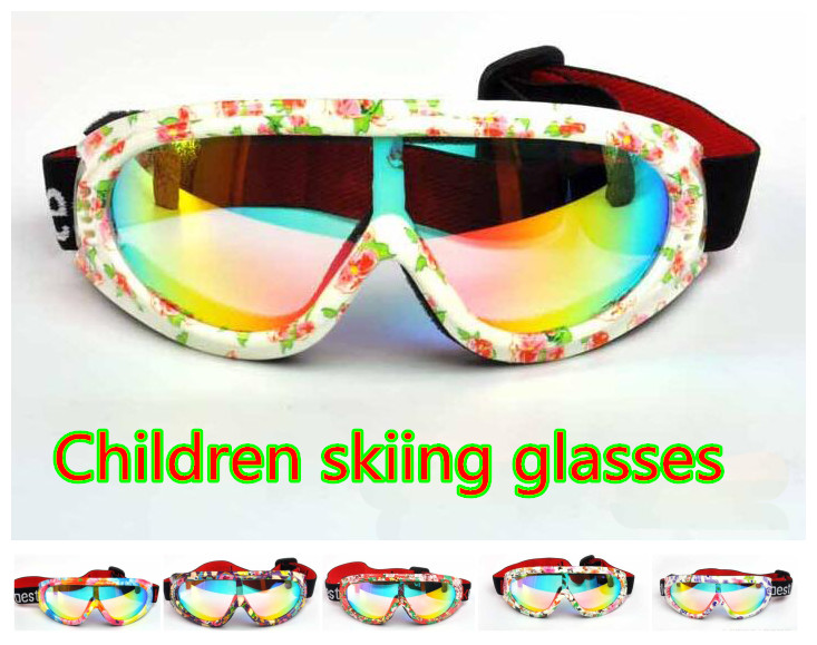 Prix pour Enfants Unique miroir UV400Ski Lunettes Anti-vent Professionnel Enfants Ski Lunettes Hiver Filles Garçons Lunettes