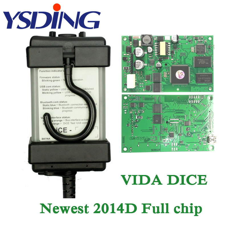 Green PCB For Volvo Vida Dice 2014D Car Scanner For Volvo Vida Dice With Full Chip For Volvo Vida Dice VXDIAG For Volvo Dice USB