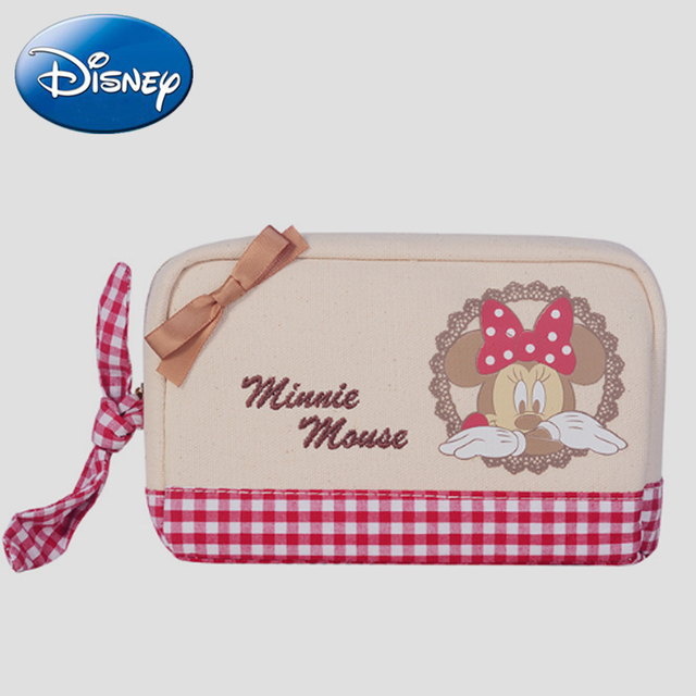 Disney Minnie Toiletry-Bags Travel Canvas Cosmetic-Bag Organizer Women Girl  MakeupBag Make up Case Beauty Storage Wash Bag a0128088a22cd
