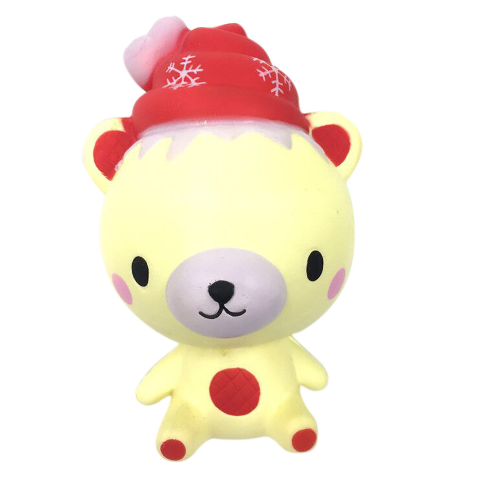 Cute Gift Christmas Toy 13cm Squishy Poo Bear Relieve Squeeze Slow Rising Fun Toys 30S71023 drop shipping