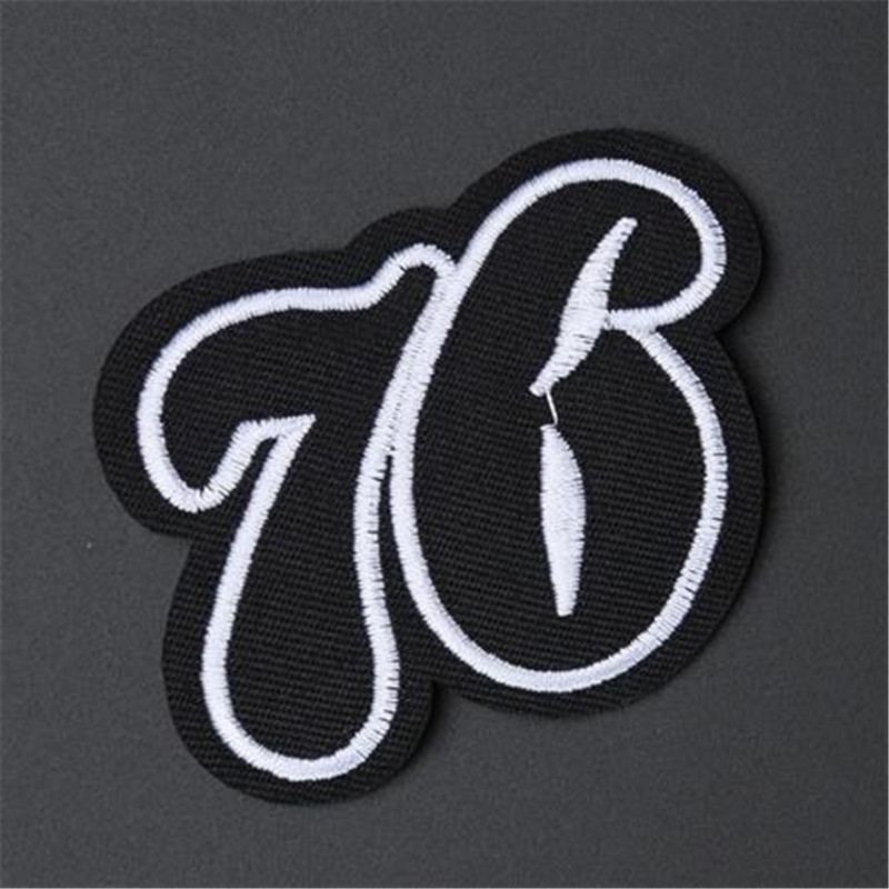 Black number 76 Iron on Patches For Women & Men Kids Clothing DIY deal with  it Embroidered Patch Motif Applique Free Shipping-in Patches from Home &  Garden ...