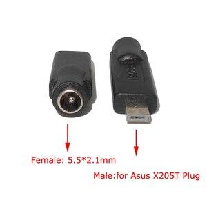 Image 3 - 5.5x2.1mm DC 19V Jack Opladen Adapter Plug Converter voor Asus Eeebook X205T X205TA E202 E202SA e202SA3050 E205SA Laptop